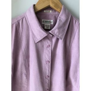 Northern Reflections Natural Faux Suede Pink Shirt